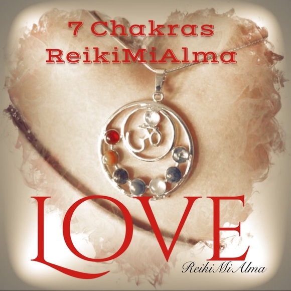 Reikimialma Jewelry 7 Chakras 3d Reiki Symbol Stone Pendant Poshmark